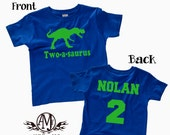Dinosaur Birthday Shirt 2nd Boy Personalized Shirts