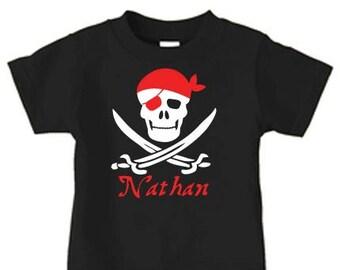 eeb11e0d Pirate birthday shirt for boys, personalized pirate birthday party tshirt  for kids, toddler shirts, boy birthday shirt