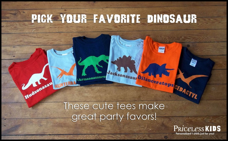 Personalized dinosaur shirt dinosaur birthday shirt for kids image 0