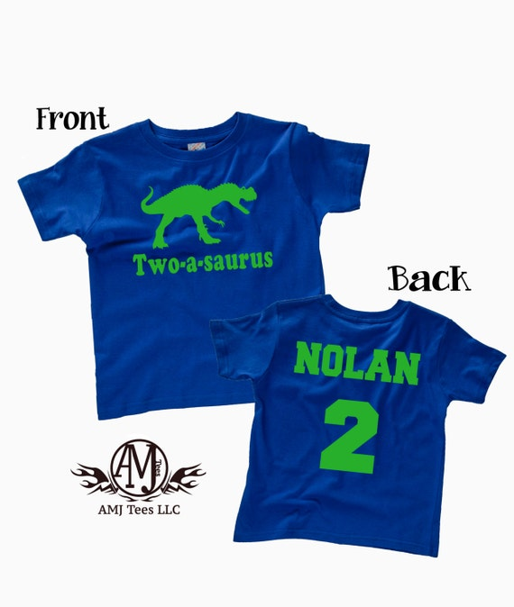 Dinosaur Birthday Shirt For Boy Personalized T Rex Party