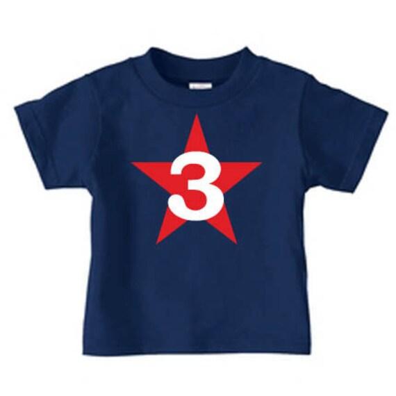 Birthday Number Shirt Boy Girl Toddler 3rd