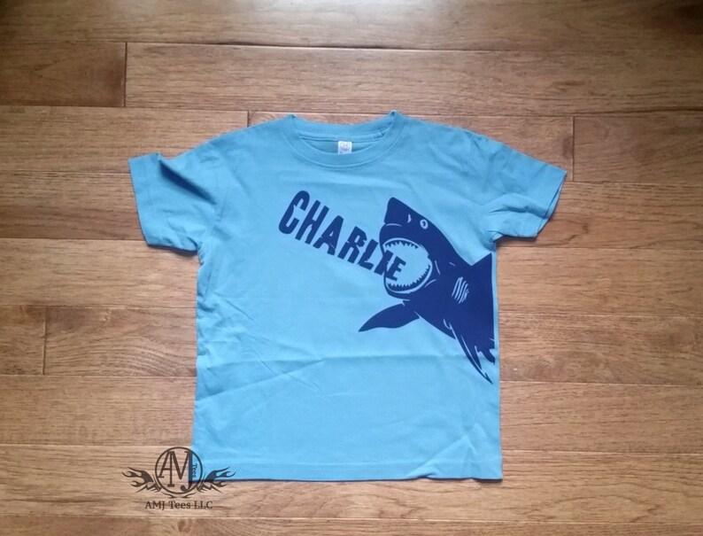 Personalized Shark Birthday Shirt