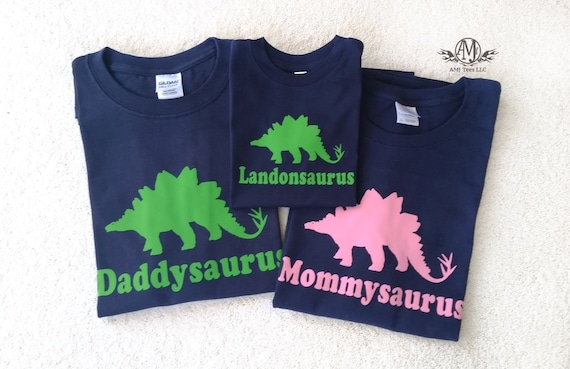 Matching Family Shirts Dinosaur Birthday For Pictures Mommysaurus Daddysaurus Personalized Party