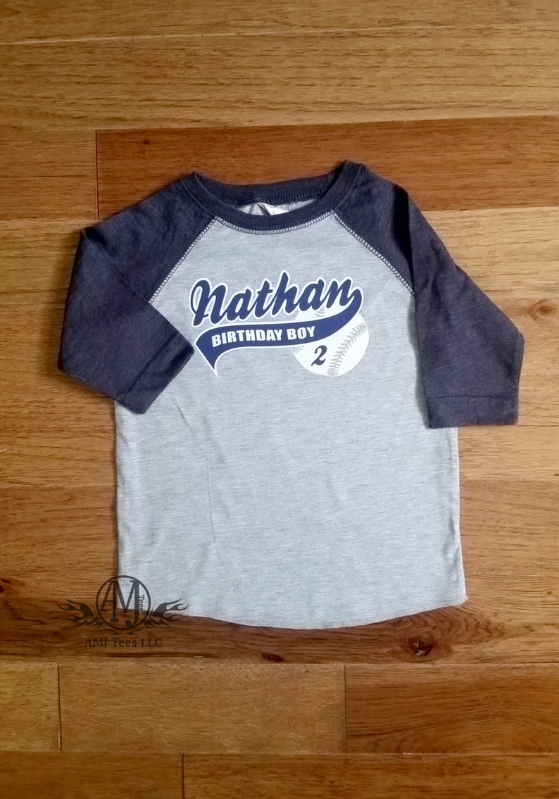 Boys Baseball Birthday Shirt 2nd