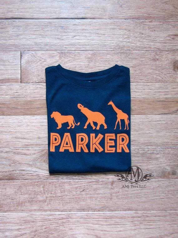 Personalized Safari Shirt Birthday Boy Jungle Toddler Zoo
