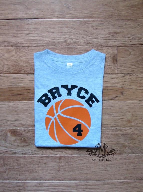Basketball Shirt Birthday Boy 4 Personalized Shirts For Boys