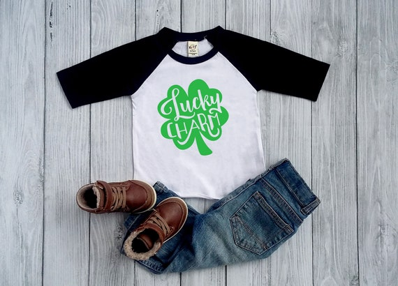 Lucky Charm Horseshoe Toddler T-Shirt For St.Patricks Day Cute Boy Girl Patty/'s