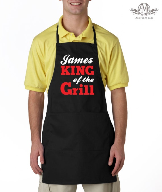 King Of The Grill Personalized Apron For Men Bbq Aprons