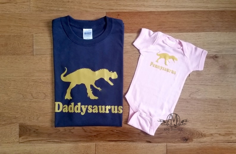 55c14635 Daddy and daughter matching shirts, father and daughter dinosaur tshirts,  new da... Daddy and daughter matching shirts, father and daughter dinosaur  tshirts ...
