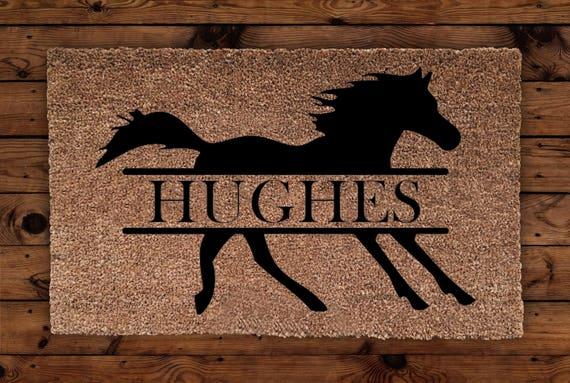 pferd personalisierte fu matte pferd fu matte bauernhof etsy. Black Bedroom Furniture Sets. Home Design Ideas