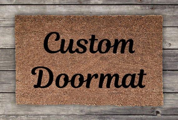 Custom Doormat Personalized Doormat Wedding Gift Etsy