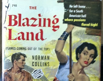 Vintage PaperbackBantam 790 The Blazing Land by Norman Collins 1950 NM Condition