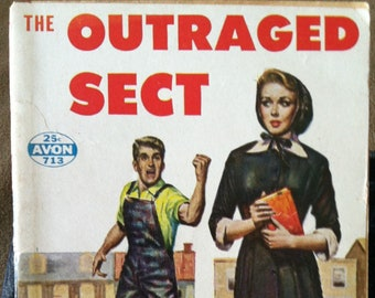Vintage Paperback Avon 713 The Outraged Sect by Jada Davis 1956 VG