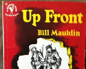 Vintage Paperback Bantam 83 Up Front by Bill Mauldin 1950 NF Condition