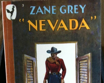 Vintage Paperback Bantam 3 Nevada by Zane Grey 1949 NF Condition