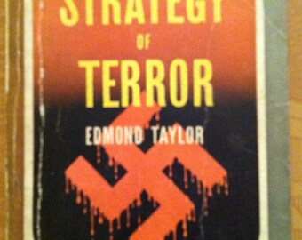 Vintage Paperback The Strategy of Terror by Edmond Taylor, 1942, VG Pocket Book 173