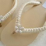Ivory Bridal Flip Flops, ivory sandals, ivory wedding flip flops, beach wedding shoes, ivory flip flops, nude flip flops, nude shoes