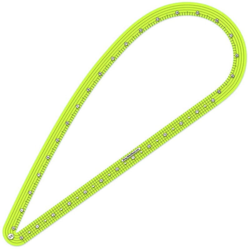 Pattern Making Ruler Large Available in: 5/8th inch 1/2 inch 5/8th inch