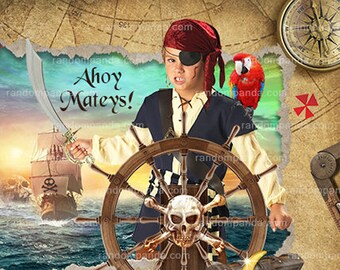 Personalize Pirate Birthday Party Invitation