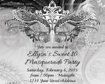 07f721bb44 Masquerade Ball Invitation