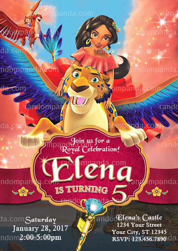 Elena Of Avalor Invitation Princess Birthday Party