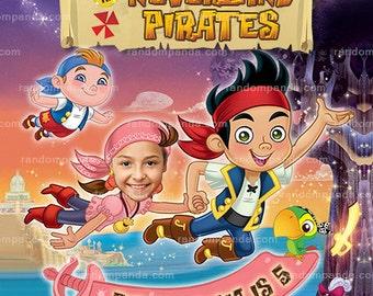 Personalize Jake and the Neverland Pirates Invitation, Pirate Izzy Birthday Invite
