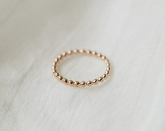 Dot Stacking Ring - 14k Gold Filled Dainty Thin Ring - Minimalist Simple Everyday Ring