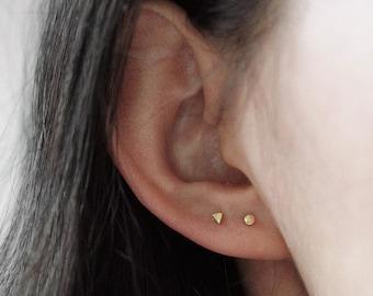 SINGLE STUD - Tiny Triangle Stud Earrings