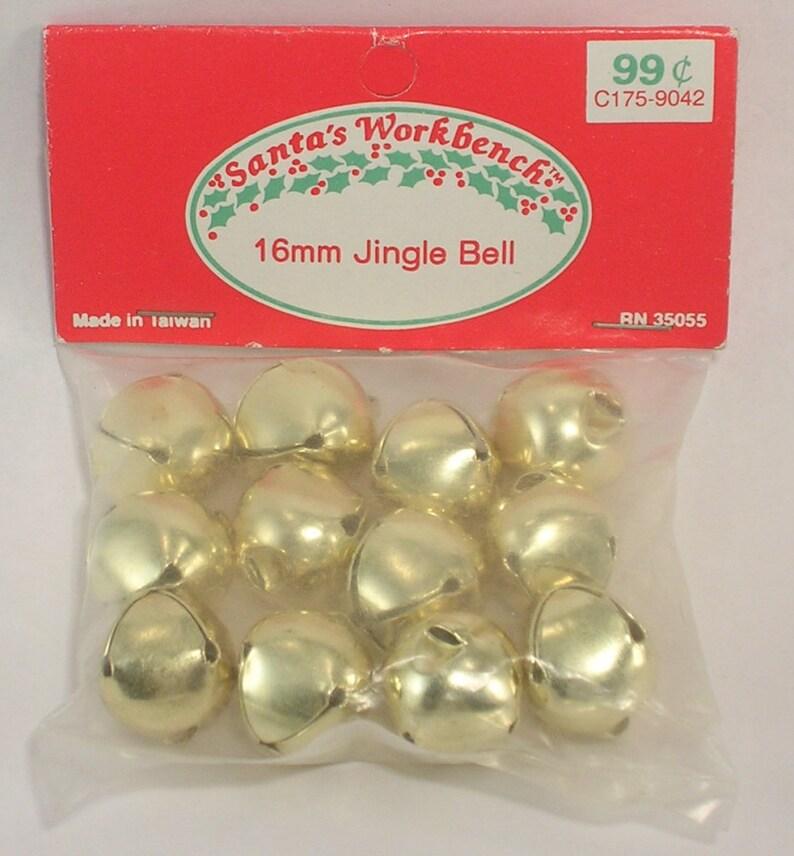 Santa/'s Workbench 16mm Jingle Bells Pkg of 12 Gold Color Vintage New Old Stock
