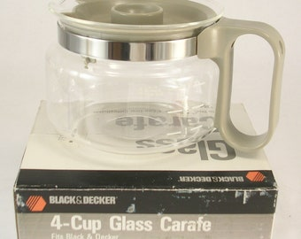 Black & Decker 4 Cup Glass Carafe Replacement Pot #3354 with Original Box