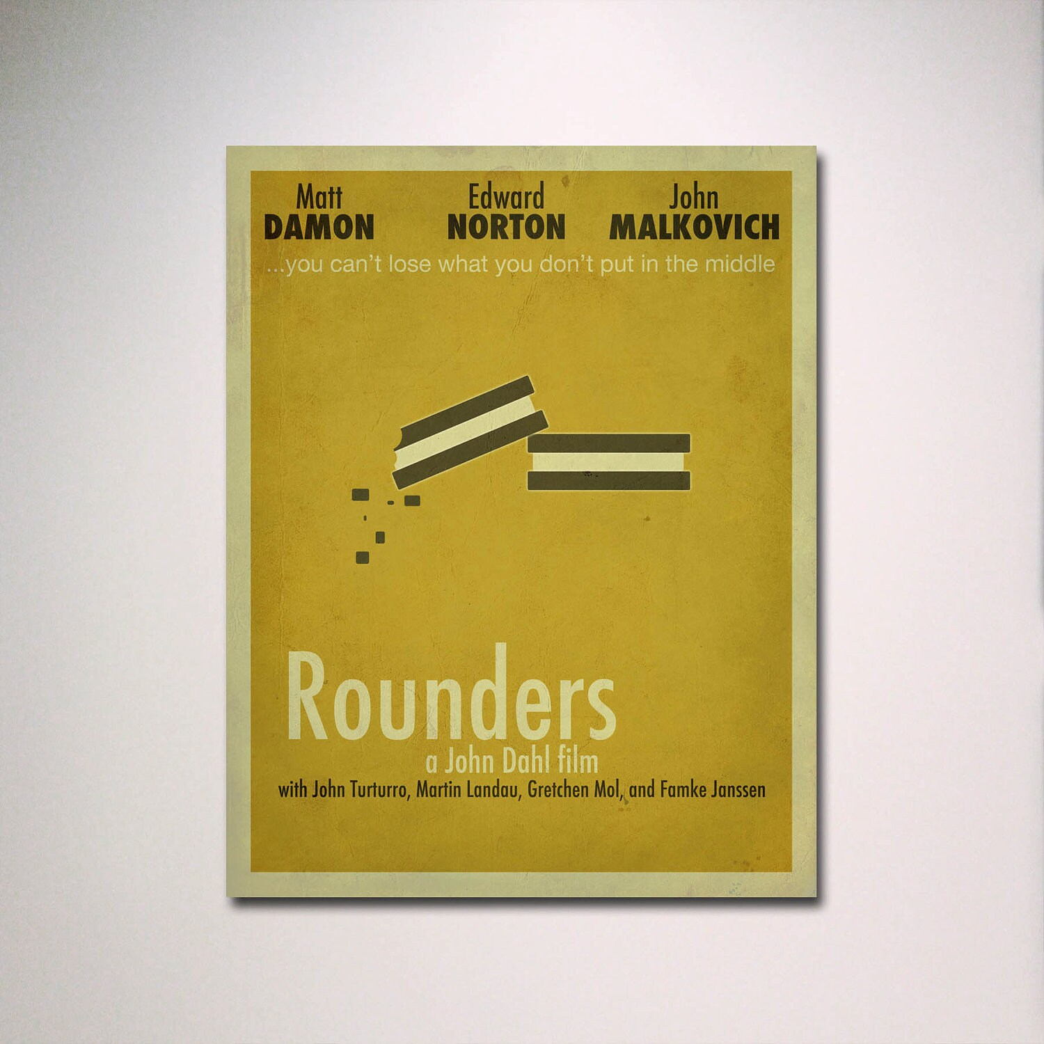 Rounders Minimalist Movie Poster / Poker Room / Movie Room / | Etsy