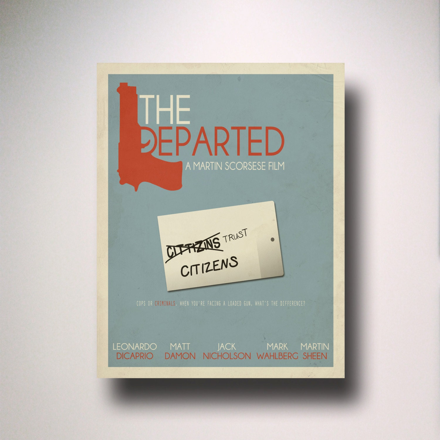 The Departed Minimalist Movie Poster Movie Poster Minimal Etsy