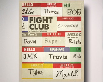 Fight Club Minimalist Movie Poster / Fight Club Poster / Fight Club Art / Tyler Durden