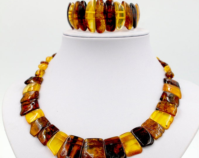 Necklace and Bracelet set GIFT Baltic Amber