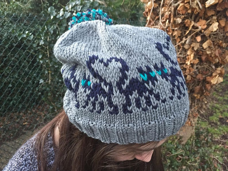7e16b31a7d6 Hat with cat motifs KNITTING PATTERN in pdf Knit these Love