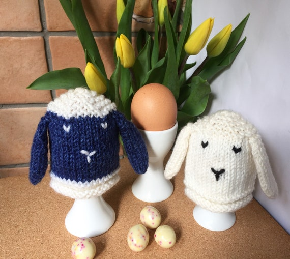 Egg Cosy Knitting Pattern In Pdf Easter Sheep Egg Cosies Etsy