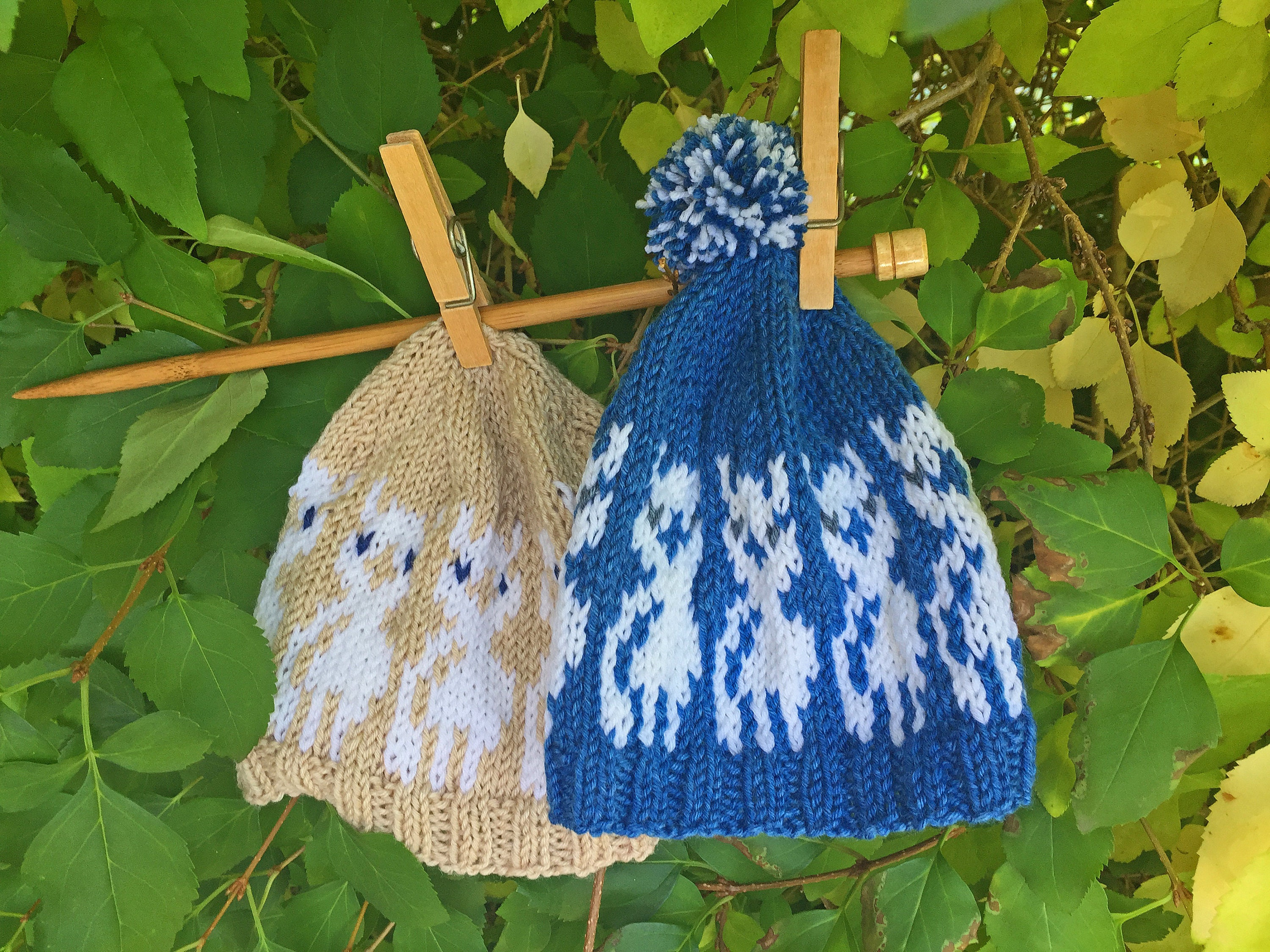 3ee45bc329c Baby Alpacas Hat KNITTING PATTERN DIY beanie pattern for a