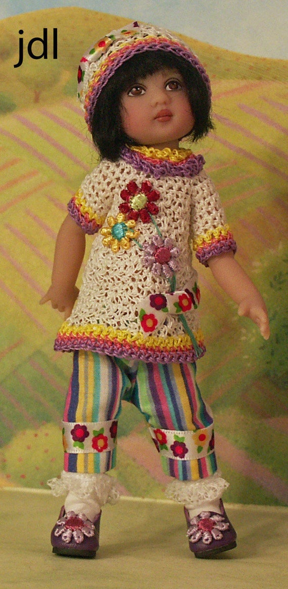 """Blue Lots o Lace Pinafore Dress fits 10/"""" Dianna Effner Ann Estelle Doll Clothes"""