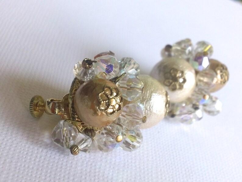 Vendome Bridal Wedding Earrings Vanilla Cream Vintage Earrings