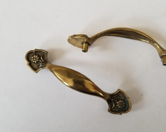 ANTIQUE Drawer Pull SOLID Brass Bail /& 3 Washer End Options KBC