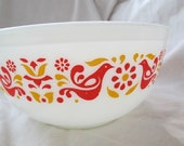 Friendship Pyrex mixing bowl Pyrex 403 2 1 2 quart bowl red bird pyrex bowl