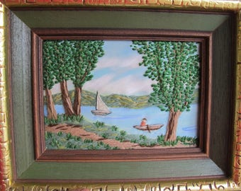 Embroidered Painting Etsy