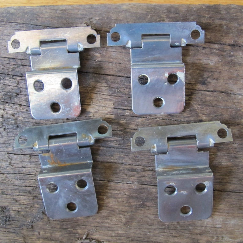 6 vintage decorative hinges-art-crafts-hardware-salvage-replacements-