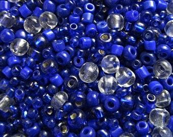 Antique Old European Loose Bead Cobalt Blue Glass Bead RBL-36