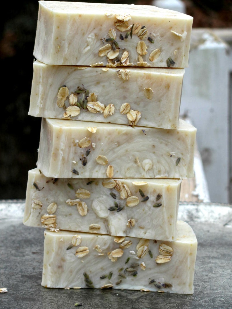 Lavender Oatmeal Soap BEST SELLER Gift for Mom Luxury Soap image 0