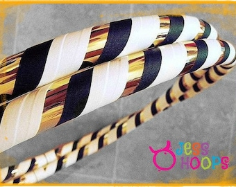 WEIGHTED Hula Hoop // Night On The Town // Collapsible Travel Beginner Hoop // gold, black, white