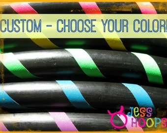 """46"""" - 52"""" // CHOOSE your COLOR // BUDGET Hula Hoop // Collapsible Travel Beginner Hula Hoop // Weighted - Any Color"""