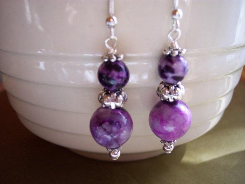 Purple Sugilite Earrings