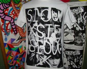 siouxsie sioux collage punk t shirt sizes SM - XL