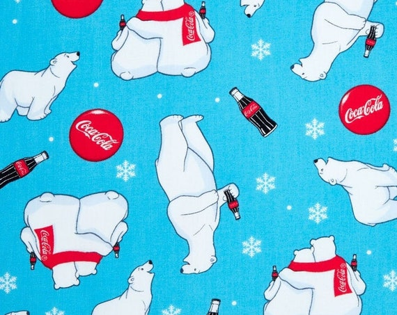 Coca-Cola - Christmas Collection Polar Bear Red Muffler Yardage
